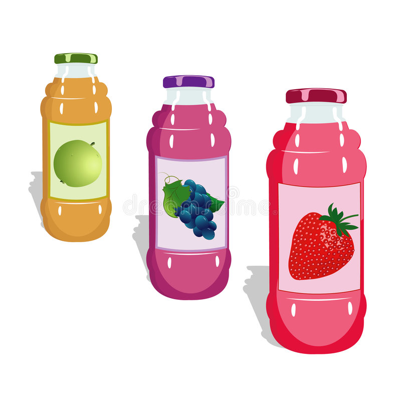 Flaschen mit saftigem stockbilder