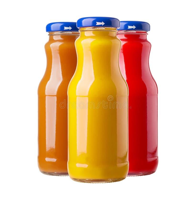 Flaschen Saft lizenzfreie stockfotos
