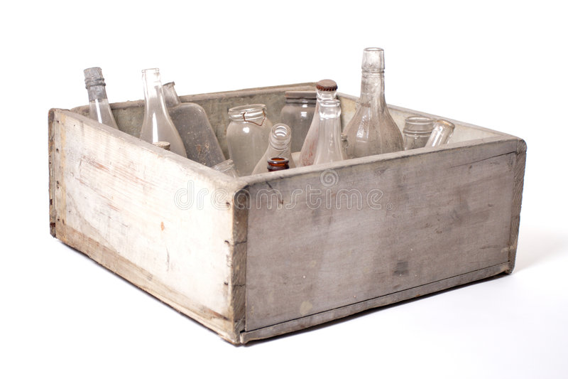 Flaschen und Gläser lizenzfreie stockfotografie
