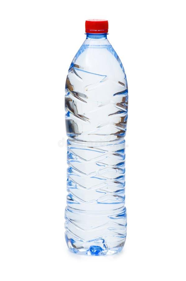 Flaschen Wasser getrennt stockfotografie