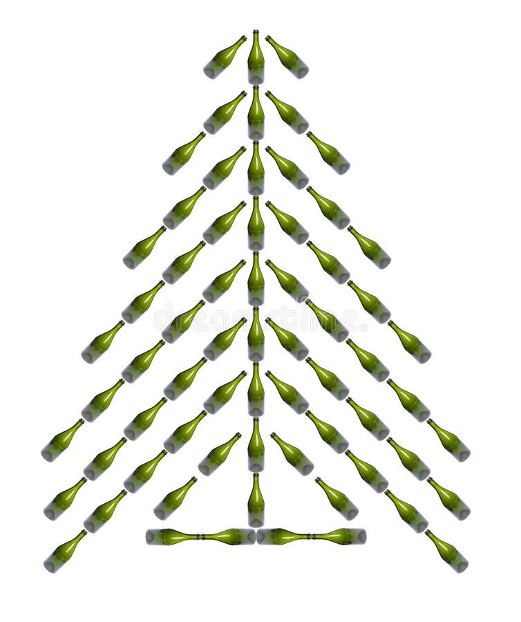 Download Flaschen-Weihnachtsbaum stock abbildung. Illustration von nachricht - 12200714