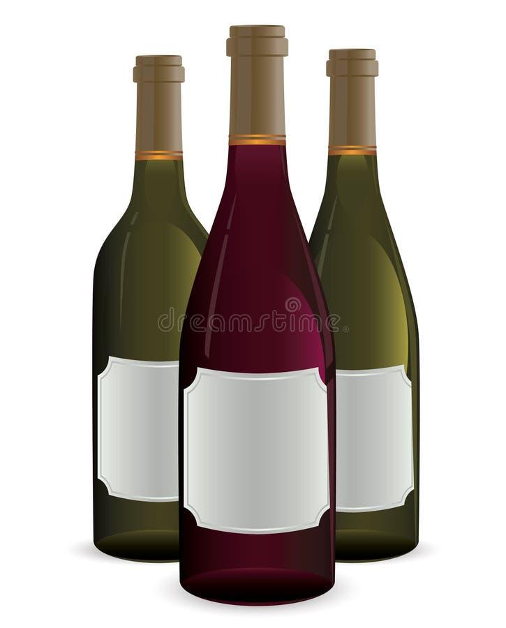 Flaschen Wein lizenzfreie abbildung