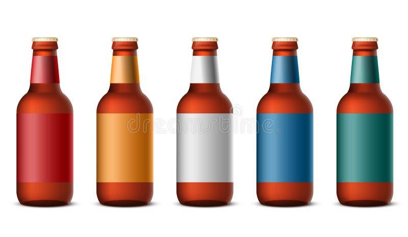 Flaschenbier lizenzfreie abbildung