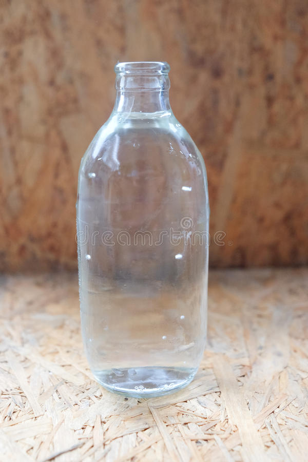 Flaschenglas Soda oder Wasser lizenzfreie stockfotografie