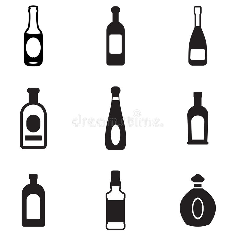 Flaschenikonen vektor abbildung