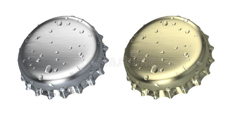 Flaschenkapsel stock abbildung