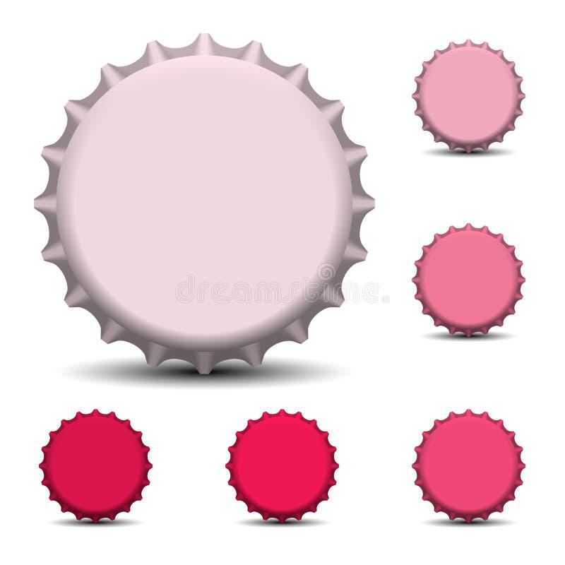 Flaschenkapsel-Vektorillustration ENV 10 lizenzfreie abbildung