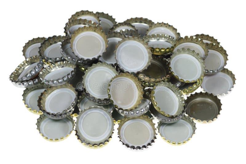 Flaschenkapseln stockfoto