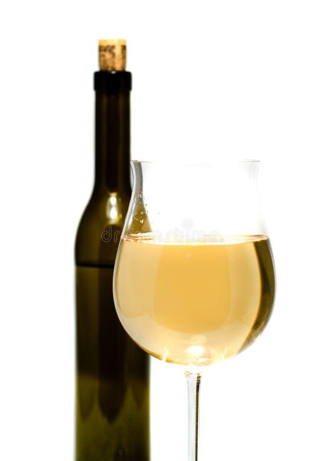 Flaschenwein und -gläser lizenzfreie stockfotos