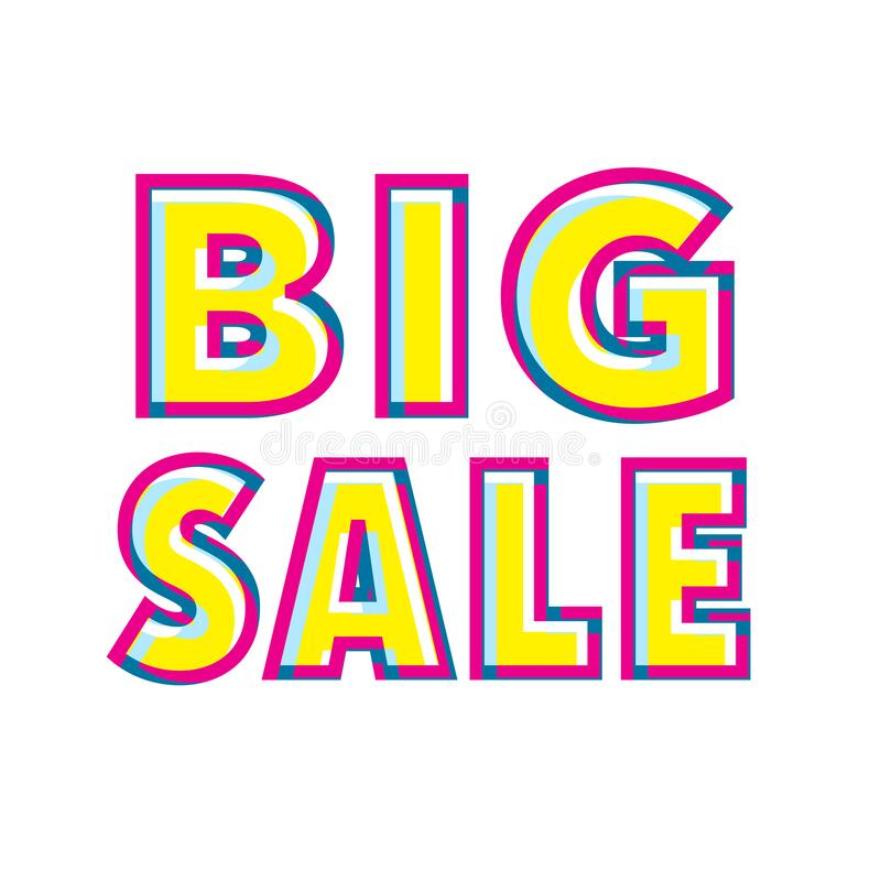 Big Sale Text royalty free stock image