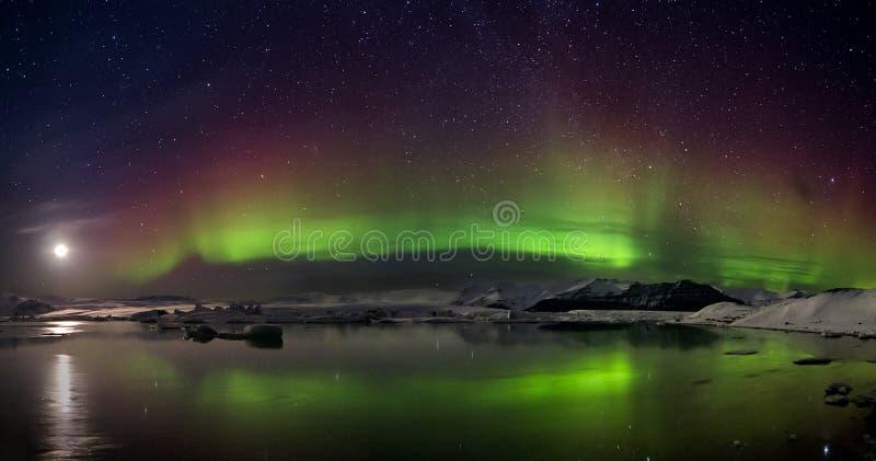 Flash of Aurora polaris royalty free stock photos