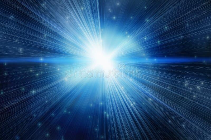 Flash blanco en backgroudns de una estrella libre illustration