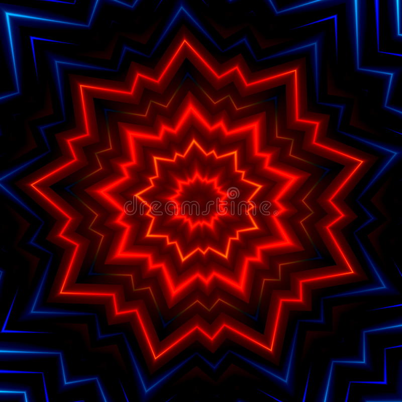 Flash blu rosso di scoppio della luce Raggi d'ardore caldi Effetto di manifestazione del laser Ha fatto molte stelle Scintilla br royalty illustrazione gratis