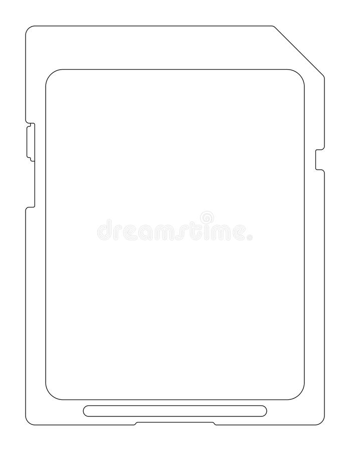 Download Flash card. stock vector. Image of transfer, outline - 29159917