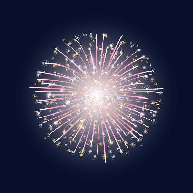 The flash of colorful fireworks vector illustration