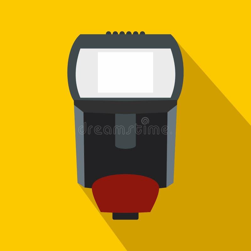 Flash da iluminação para o ícone da câmera, estilo liso ilustração royalty free