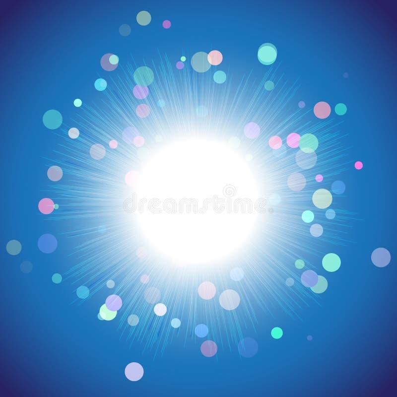 Flash da luz, uma experiência da ciência ilustração royalty free