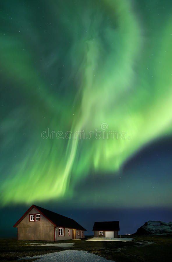 Flash de la estrella polar de la aurora foto de archivo