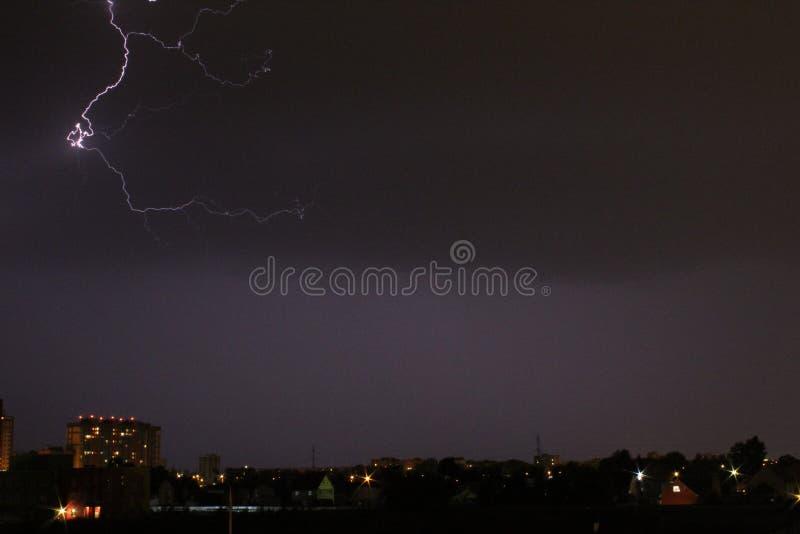 Flash de la noche fotografía de archivo