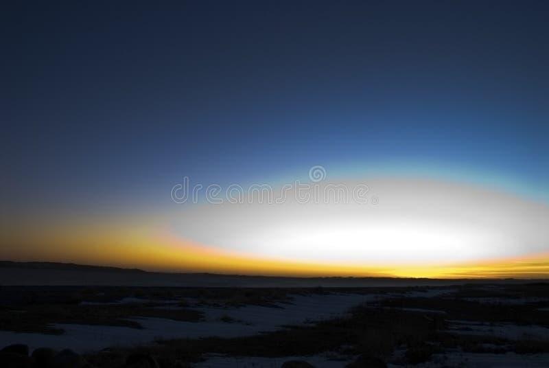 Flash de la puesta del sol fotografía de archivo