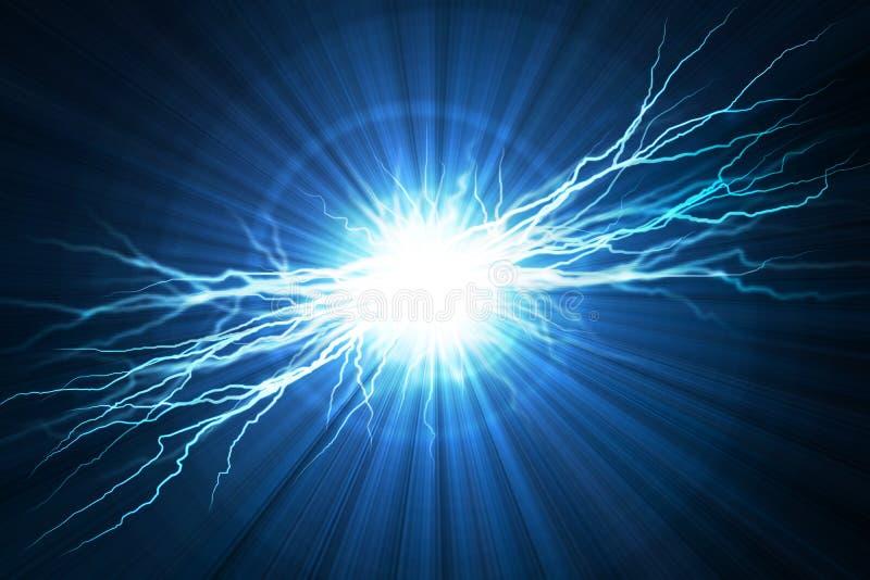 Flash de relâmpago elétrico ilustração stock