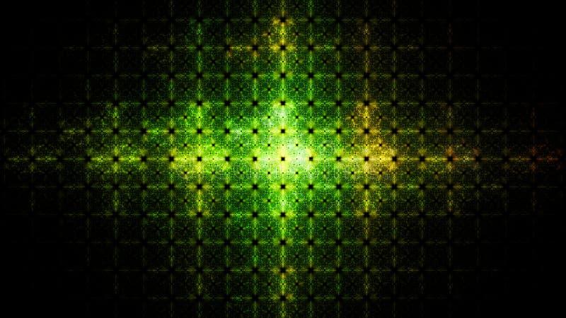 Flash di luce sullo schermo radar illustrazione vettoriale