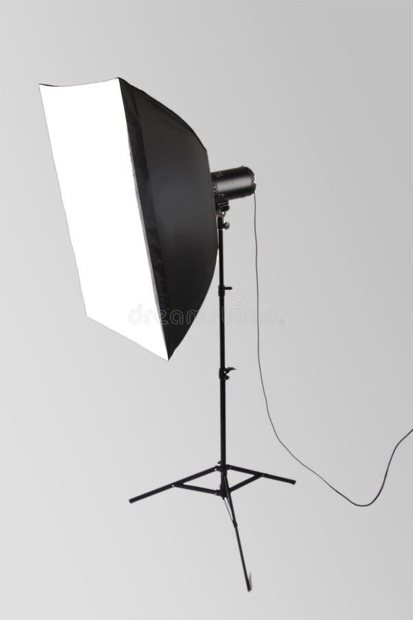 Flash do estúdio com softbox foto de stock royalty free