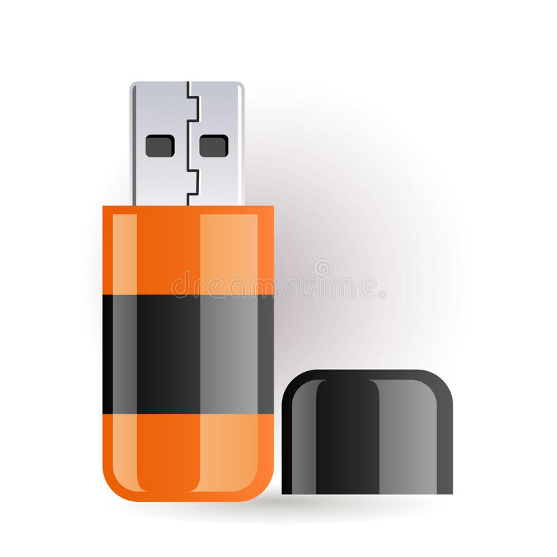 Download Flash drive stock vector. Illustration of background - 14525861