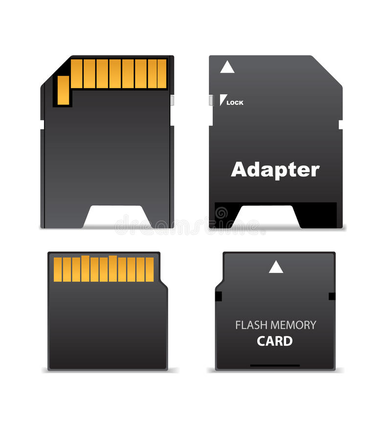 Flash Drive And Adapter Royalty Free Stock Photos