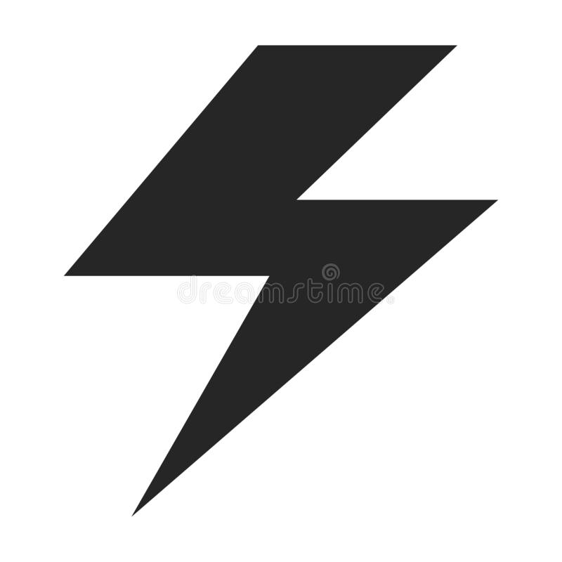 Flash Electrical App Symbol Icon Vector Black Button Isolated Background Stock Vector Illustration Of Bolt Flat 139139833