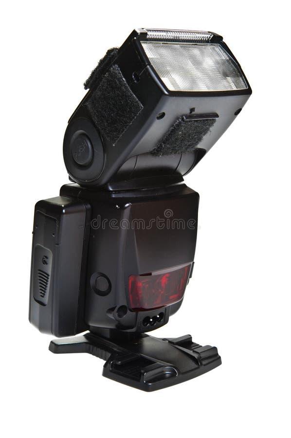 Flash externo de la cámara fotografía de archivo