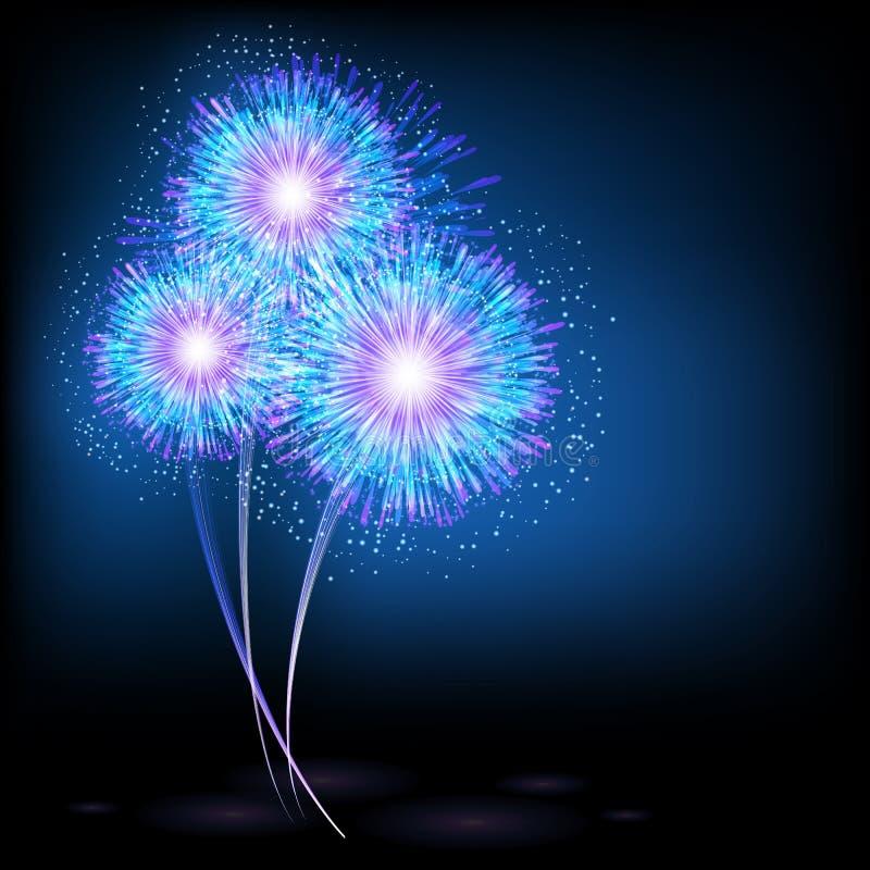 Flash of fireworks. Illustration for your design stock illustration