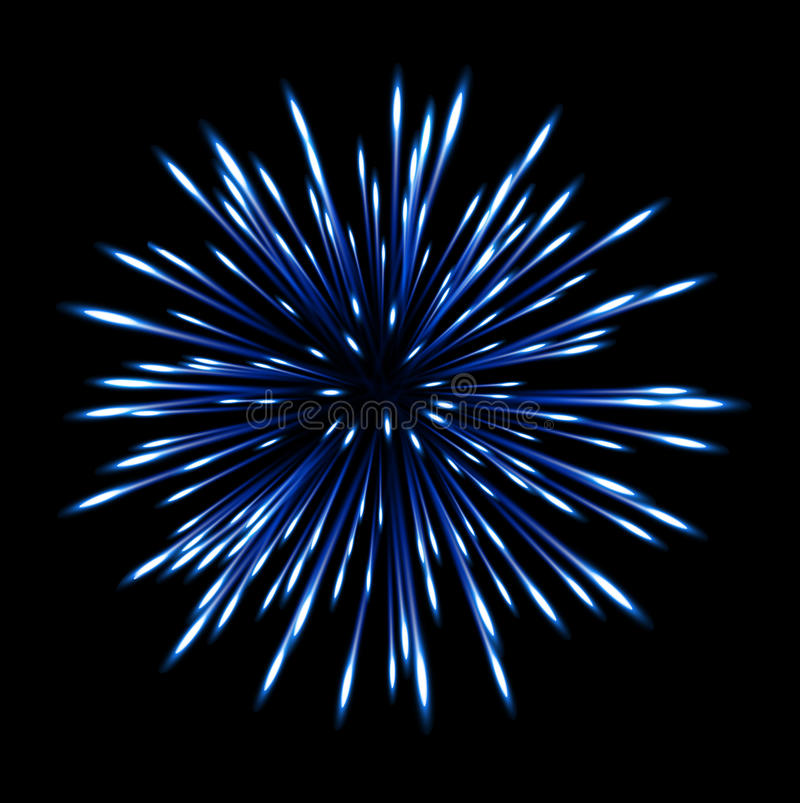 Flash Fireworks On Black Background Stock Illustration ...