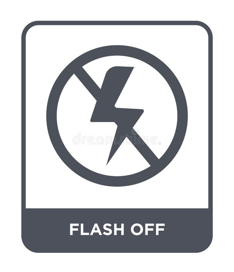 flash fora do ícone no estilo na moda do projeto flash fora do ícone isolado no fundo branco flash fora do plano simples e modern ilustração do vetor