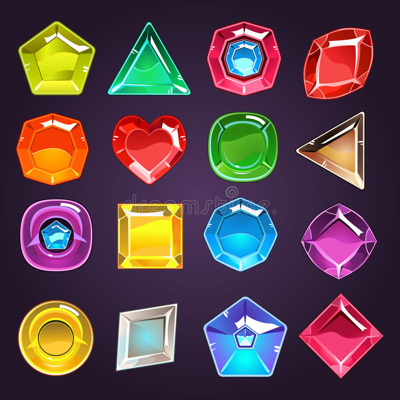 Flash Game Jewel Set Stock Vector - Image: 70652538