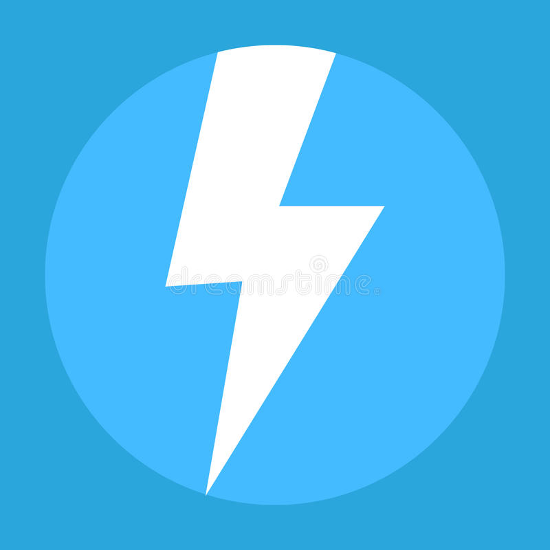 Free Flash Icon In The Blue Background Stock Photography - 89392212