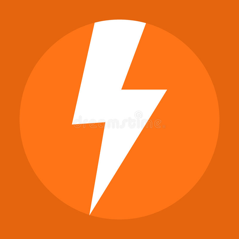 Free Flash Icon In The Orange Background Royalty Free Stock Images - 89392229