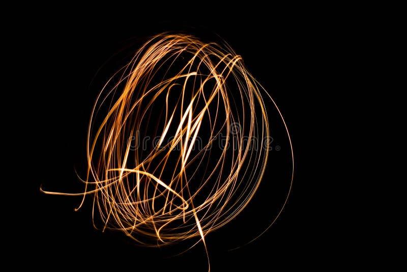 Flash leggero di magia della sfera della pittura fotografia stock libera da diritti