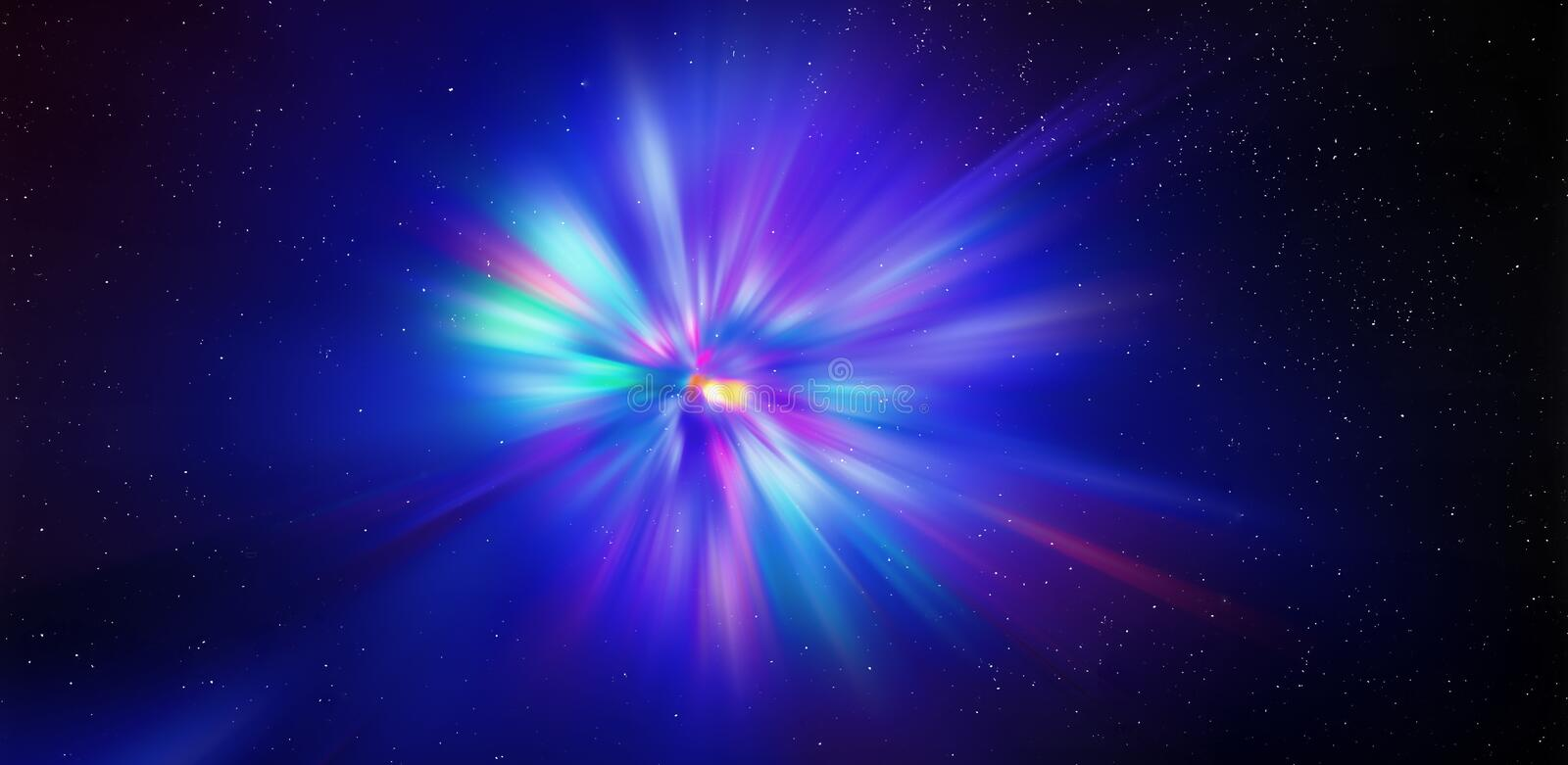 Flash light radial colored rays. Blurred background. Element of design.WEB BANNER stock photos