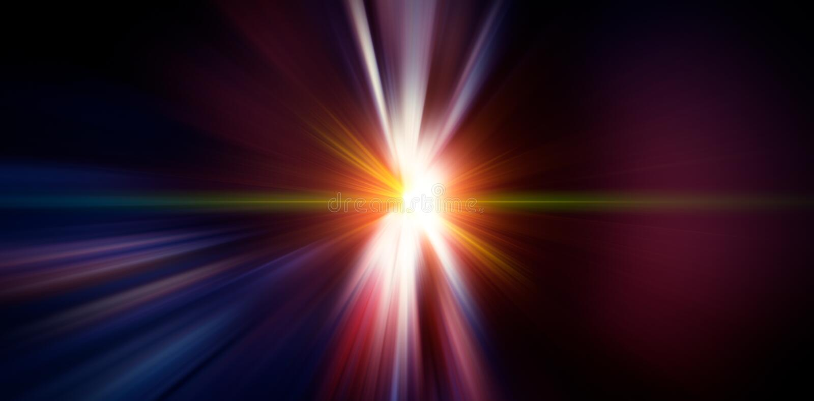 Flash light radial colored rays. Blurred background. Element of design.WEB BANNER royalty free stock photography