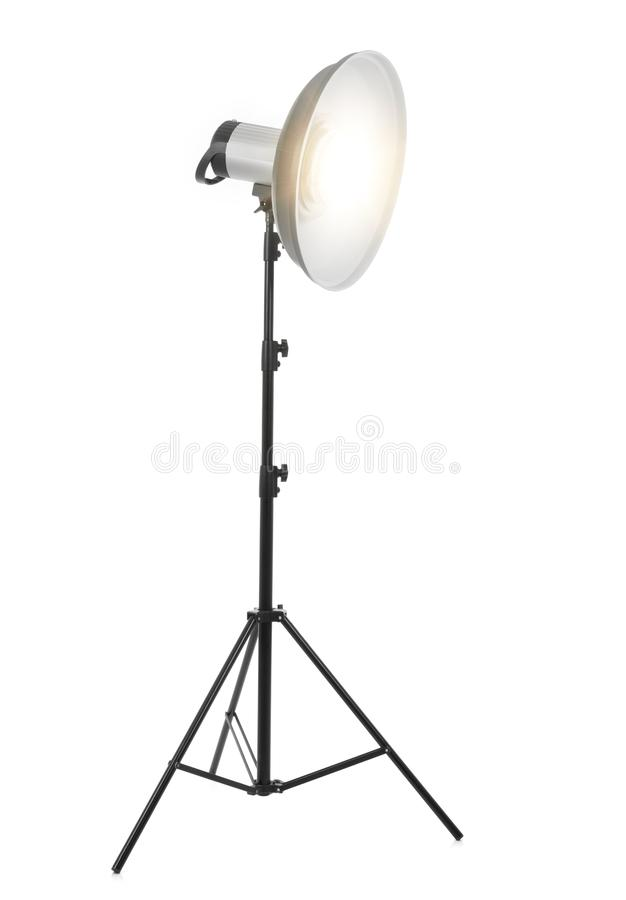 Flash light on white stock photography