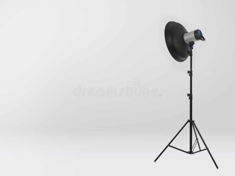 Flash light on white stock images