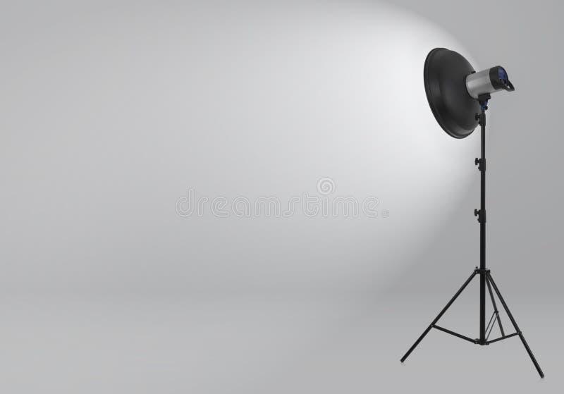Flash light on white stock illustration