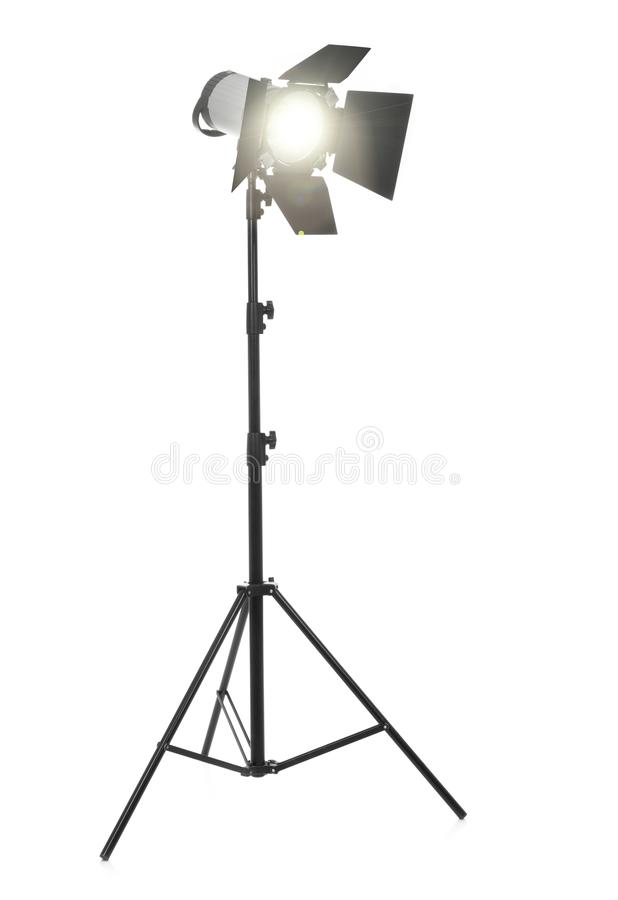 Flash light on white royalty free stock photography