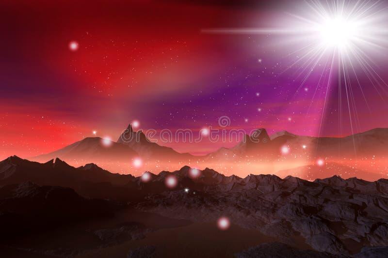 Flash magici in montagne illustrazione vettoriale