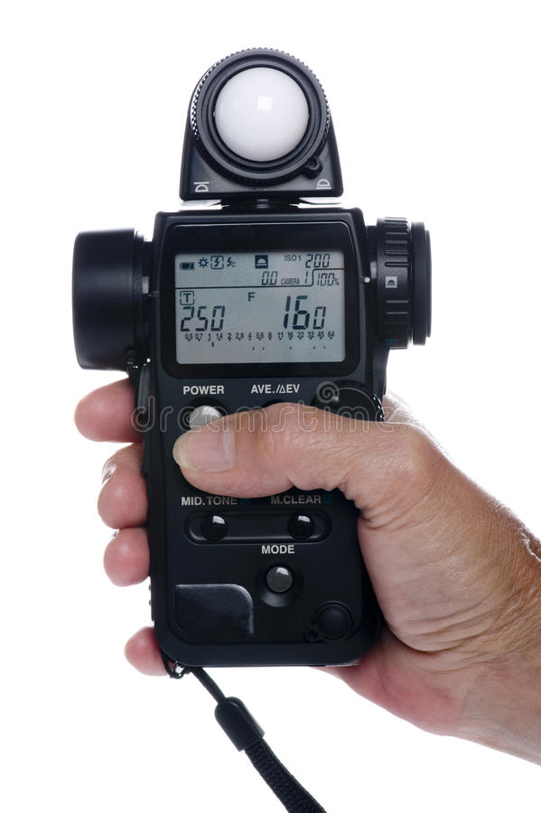 Download Flash meter on hand stock photo. Image of equipment, flashmeter - 11376452