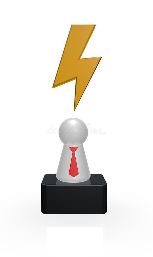 Flash na mente ilustração stock