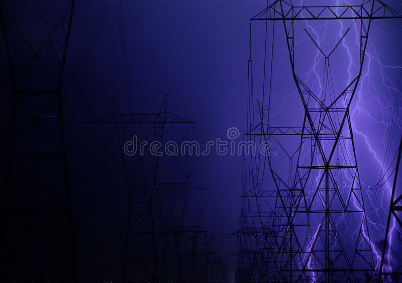 Flash over electric wiring stock photography