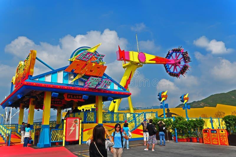 Flash ride of ocean park hong kong royalty free stock photo