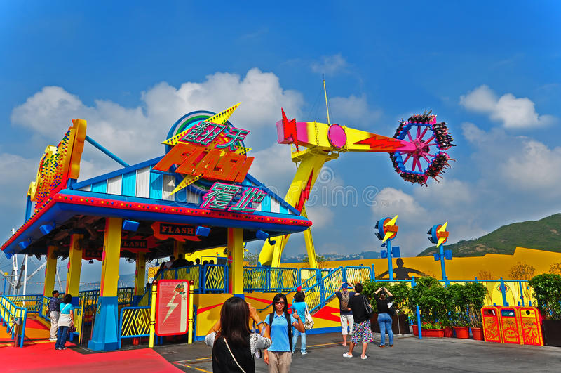 Download Flash Ride Of Ocean Park Hong Kong Editorial Image - Image: 21697275